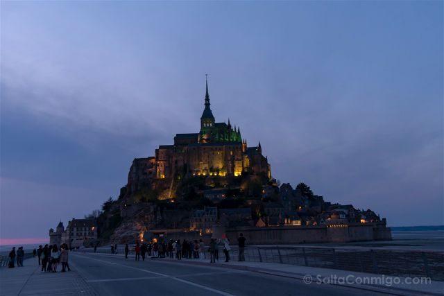 Francia Normandia Mont Saint Michel Hora Azul Cerca