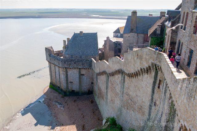 Francia Normandia Mont Saint-Michel Murallas