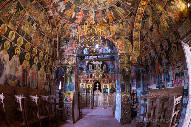 Grecia Meteora Monasterio Santisima Trinidad Interior