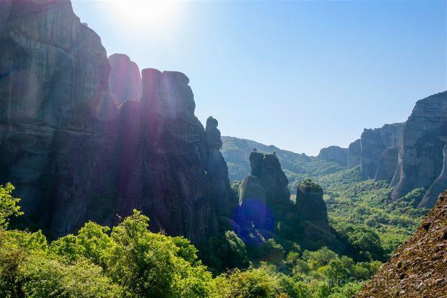 Grecia Meteora Paisaje Hikking
