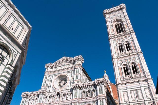 Italia Florencia Baptisterio Catedral Campanario