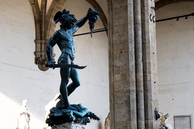 Italia Florencia Loggia Signoria Perseo Medusa