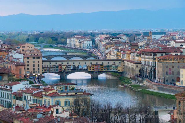 Italia Florencia Ponte Vecchio Piazzale Michelangelo Corridoio Vasariano Uffizi