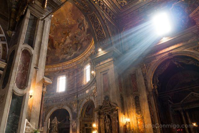 Italia Florencia Santissima Annunziata Interior Luz