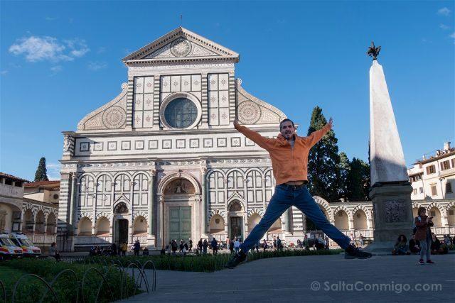 Italia Florencia Santa Maria Novella Salto