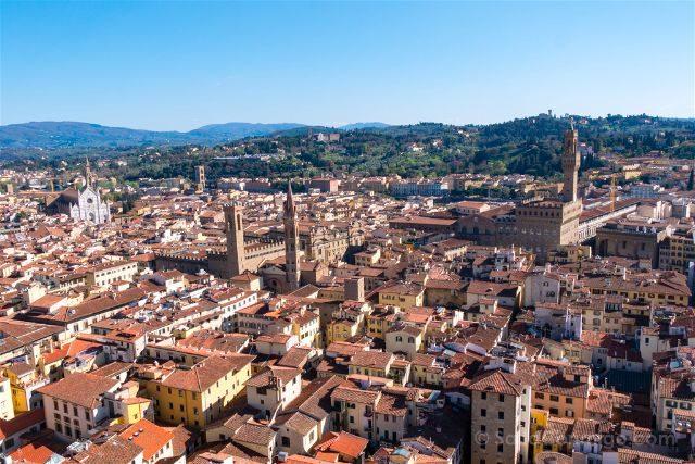 Italia Florencia Vista Campanile Uffizi