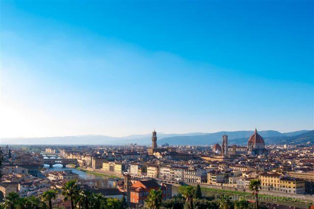 Italia Florencia Vista Piazzale Michelangelo Tarde