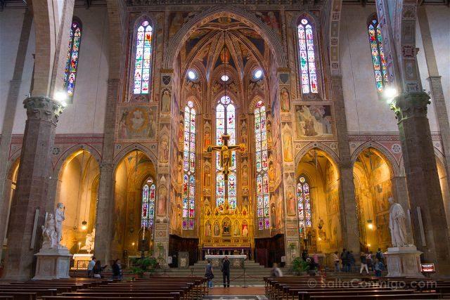 Italia Toscana Florencia Santa Croce Altar