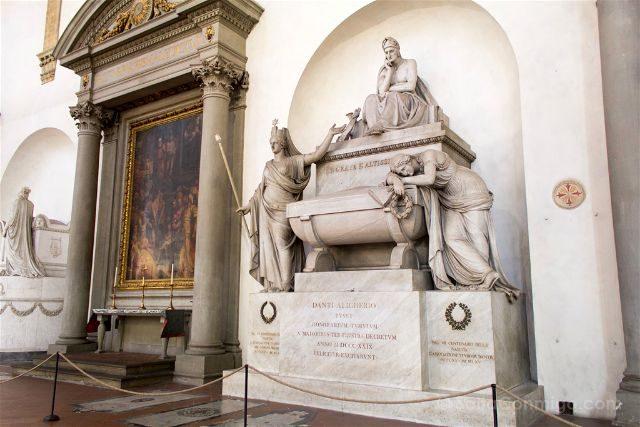 Italia Toscana Florencia Santa Croce Cenotafio Dante