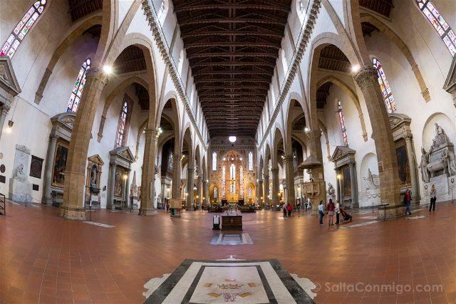 Italia Toscana Florencia Santa Croce Interior