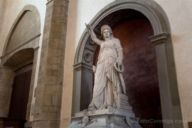 Italia Toscana Florencia Santa Croce Libertad Poesia
