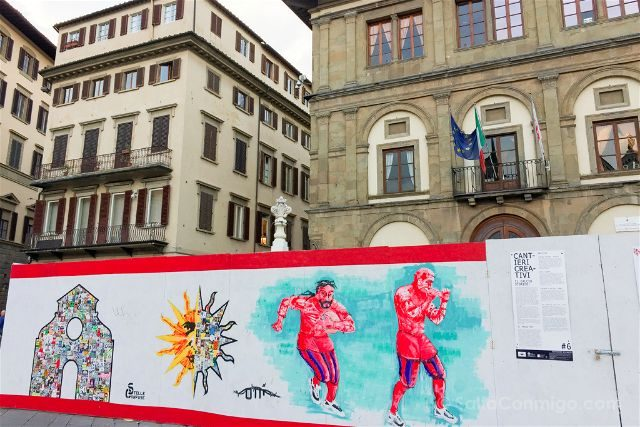 Italia Toscana Florencia Santa Croce Plaza Calcio Storico