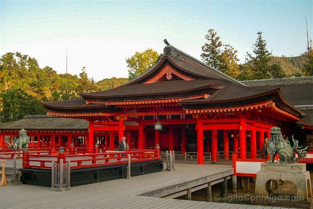 Japon Miyajima Itsukushima Santuario Fachada