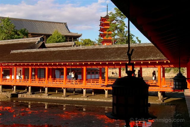 Japon Miyajima Itsukushima Santuario Pagoda