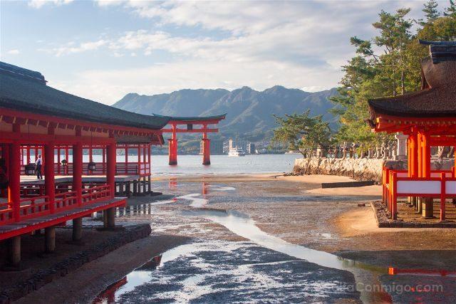Japon Miyajima Itsukushima Santuario Torii