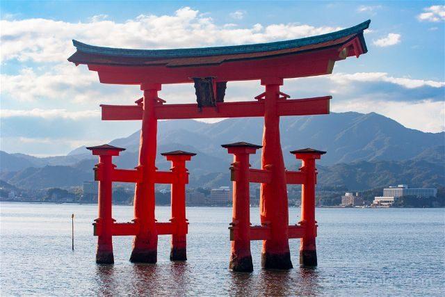 Japon Miyajima Itsukushima Torii Dia