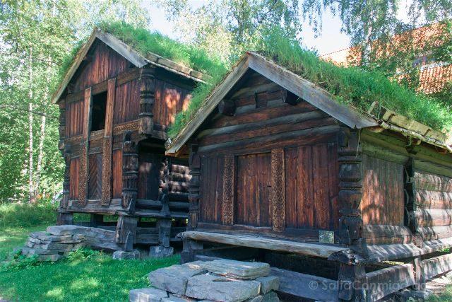 Noruega Oslo Norsk Folkemuseum Casas