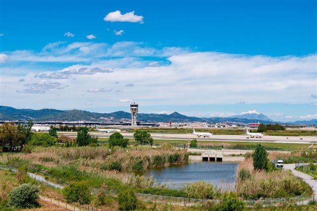 Catalunya Barcelona Delta Llobregat Mirador Illa Aeropuerto El Prat