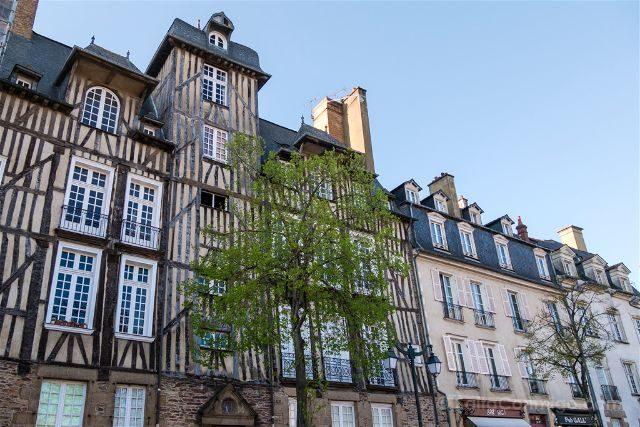 Francia Bretagne Rennes Casa Entramado Madera Ti-Koz