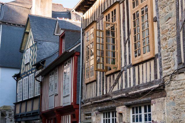 Francia Bretagne Rennes Casas Entramado Madera