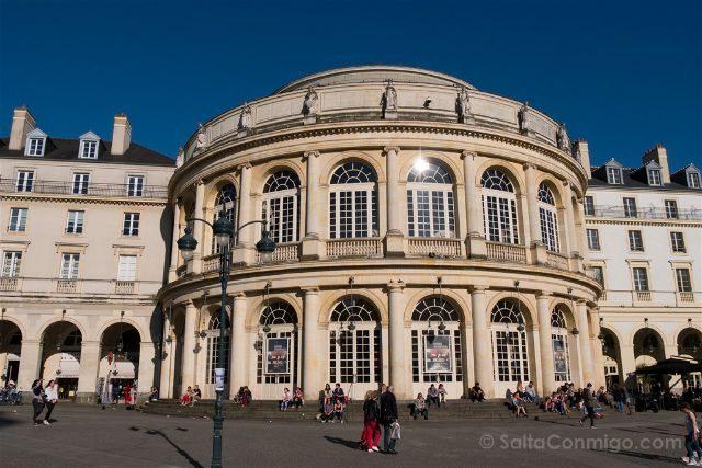Francia Bretagne Rennes Opera Fachada