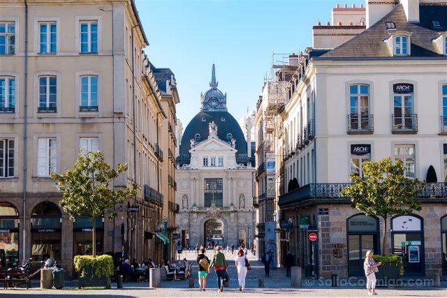 Francia Bretagne Rennes Palais du Commerce Correos