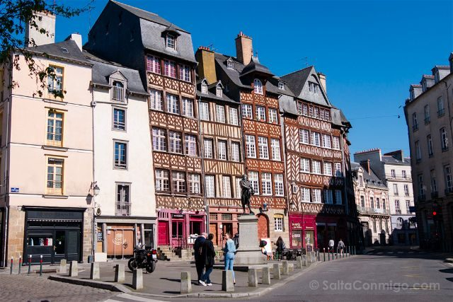 Francia Bretagne Rennes Plaza San Miguel