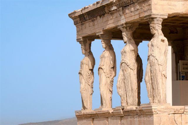 Grecia Atenas Acropolis Erecteion Cariatides