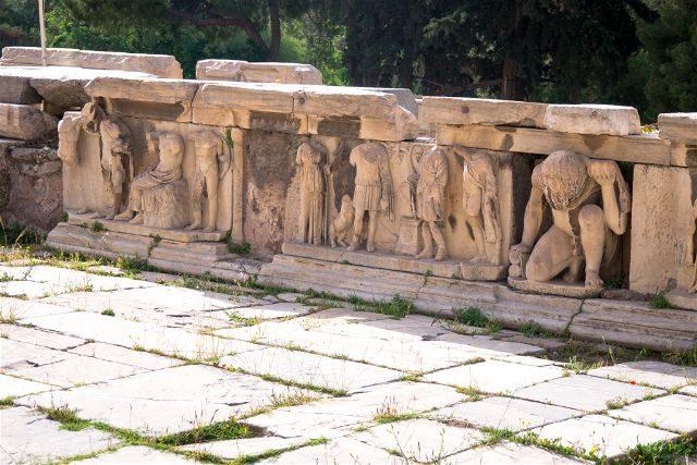 Grecia Atenas Acropolis Escena Teatro Dioniso