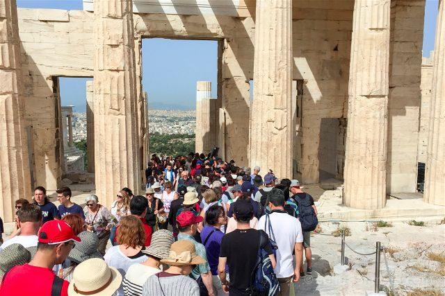 Grecia Atenas Acropolis Gente