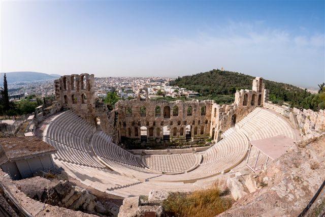 Grecia Atenas Acropolis Odeon Herodes Atico