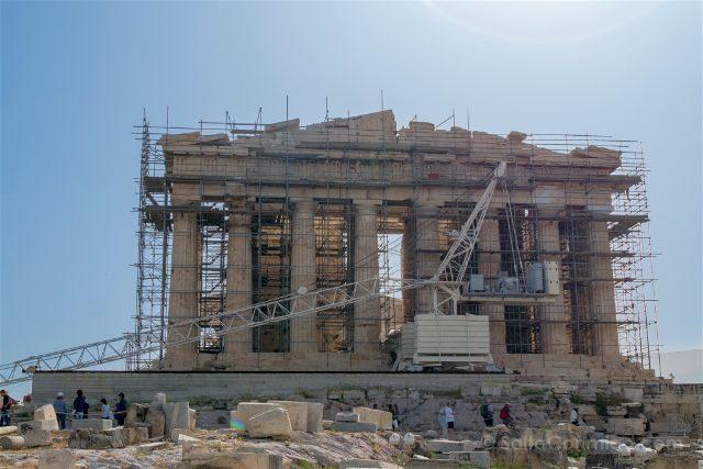Grecia Atenas Acropolis Partenon Andamios Grua