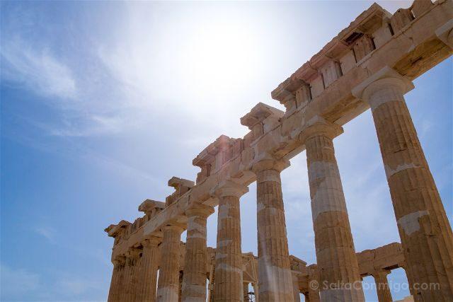 Grecia Atenas Acropolis Partenon Lateral Sol