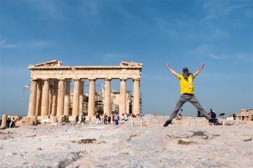 Grecia Atenas Acropolis Partenon Salto