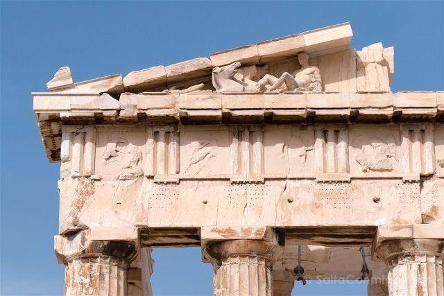 Grecia Atenas Acropolis Partenon Timpano Friso