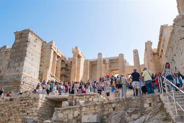 Grecia Atenas Acropolis Propileos Exterior