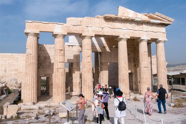 Grecia Atenas Acropolis Propileos Interior