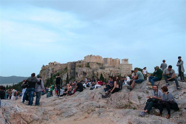 Grecia Atenas Acropolis Vista Monte Aeropagus