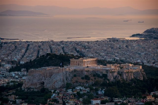 Grecia Atenas Acropolis Vista Monte Licabeto