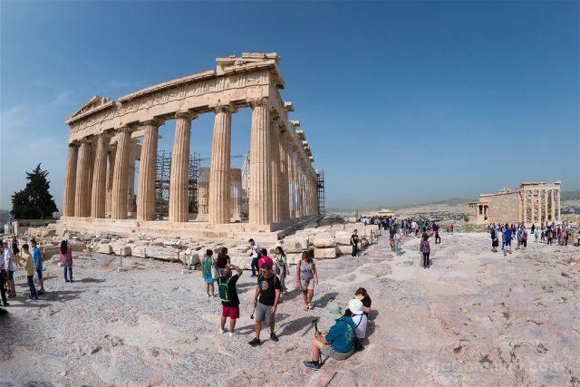 Grecia Atenas Acropolis Vista Partenon Erecteion
