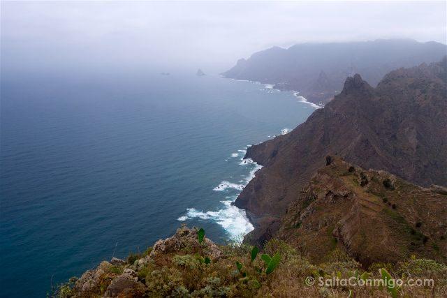 Islas Canarias Tenerife Parque Anaga Sendero Roque Taborno