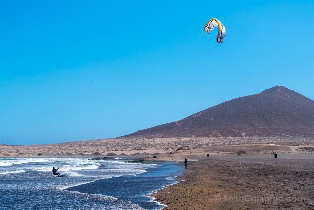 Islas Canarias Tenerife Playa El Medano Kitesurf