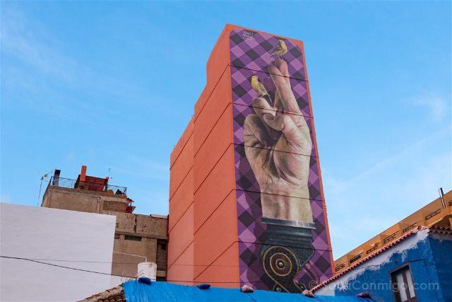 Islas Canarias Tenerife Puerto De La Cruz Street Art Hay canarios y canarios Martin Ron