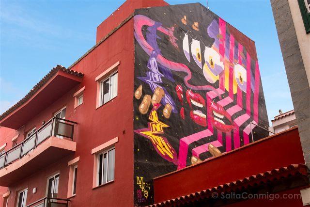Islas Canarias Tenerife Puerto De La Cruz Street Art La Macaronesia Iker Muro