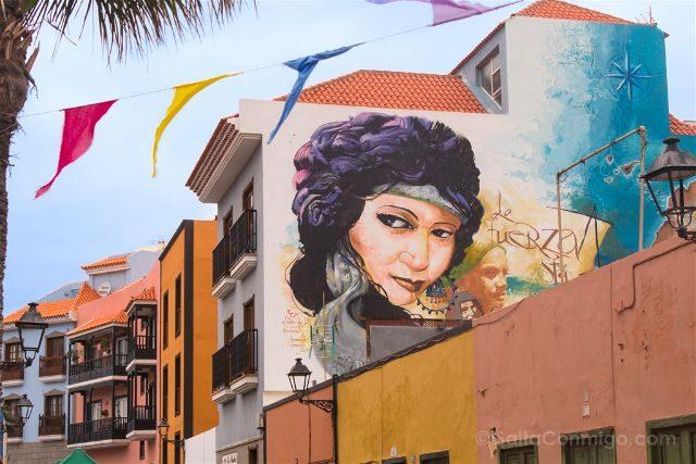 Islas Canarias Tenerife Puerto De La Cruz Street Art La fuerza esta en las raices Sex