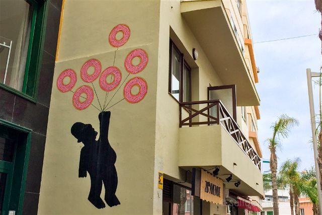 Islas Canarias Tenerife Puerto De La Cruz Street Art Oak Oak Homer Simpson