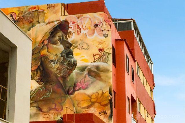 Islas Canarias Tenerife Puerto De La Cruz Street Art Urban Warriors Pichi&Avo