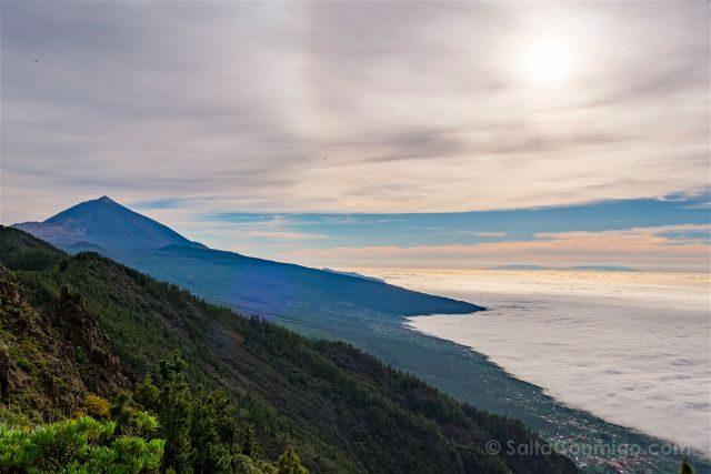 Islas Canarias Tenerife Teide Mar Nubes