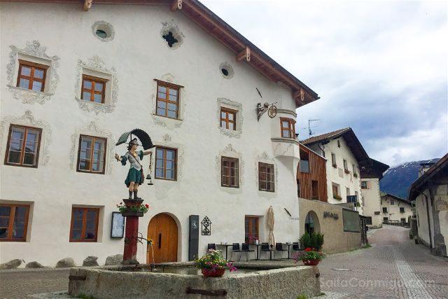 Italia Alto Adige Sudtirol Burgeis Burgusio Plaza
