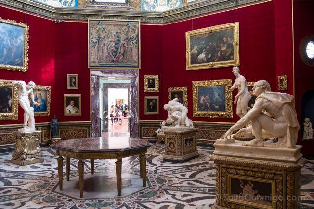 Italia Florencia Galeria Uffizi Sala Esculturas